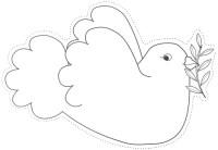 Dibujos para colorear palomas de la paz | Colorear dibujos ...